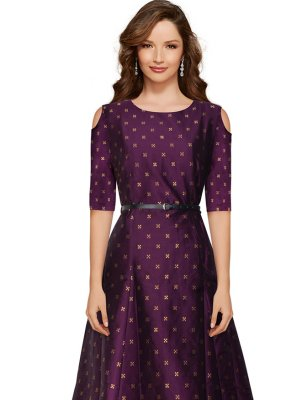Wine Festival Tafeta Silk Trendy Gown