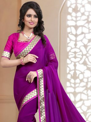 Wine Lace Festival Classic Saree