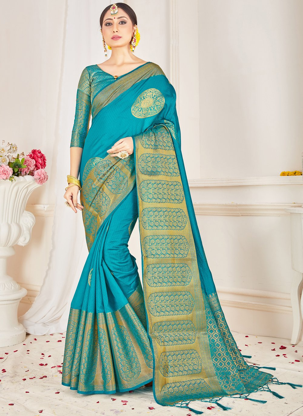 Woven Art Banarasi Silk Designer Traditional Saree