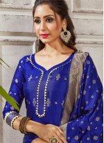 Woven Art Banarasi Silk Pant Style Suit