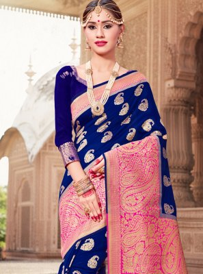 Woven Art Banarasi Silk Traditional Saree