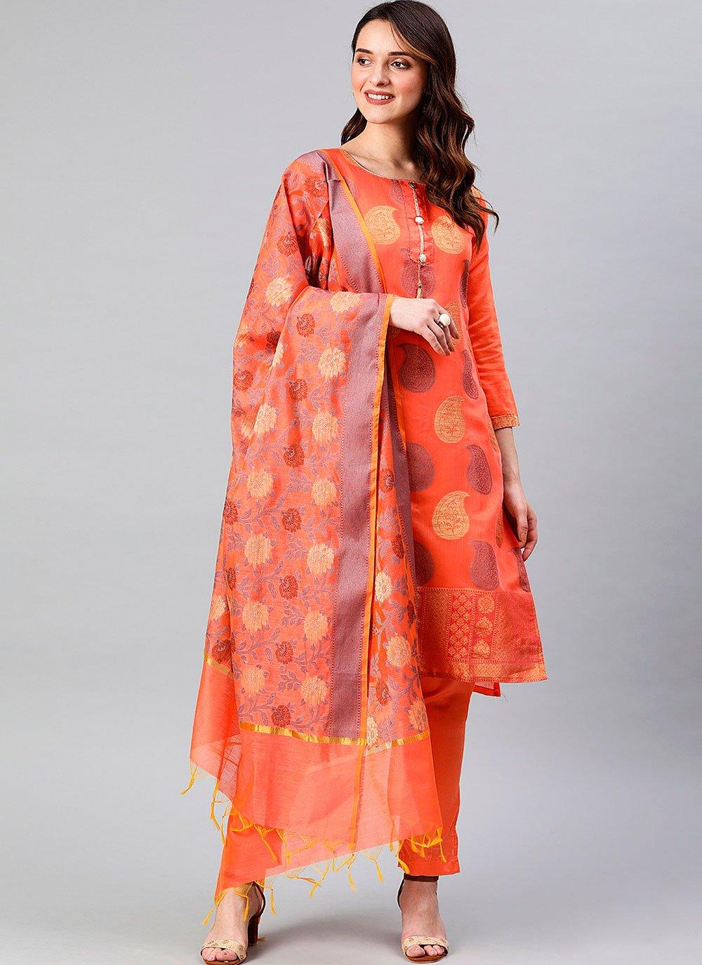 Woven Banarasi Silk Designer Suit