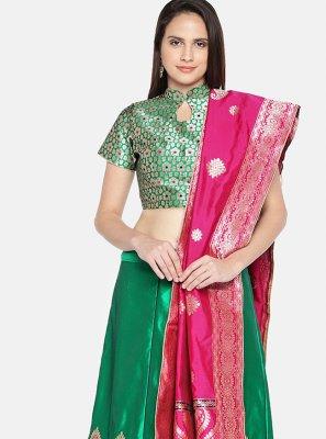 Woven Banarasi Silk Lehenga Choli
