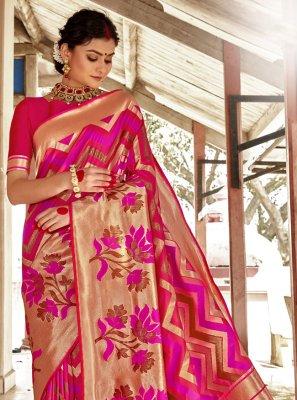 Woven Banarasi Silk Traditional Designer Saree
