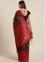 Woven Black Bhagalpuri Silk Traditional Saree