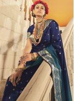 Woven Blue Designer Traditional Saree