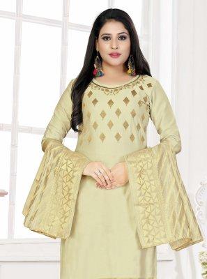 Woven Cotton Straight Salwar Kameez