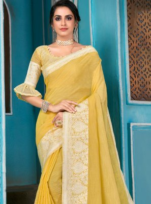 Woven Engagement Traditional Designer Saree