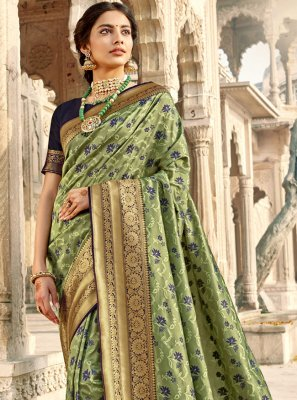 Woven Green Classic Saree