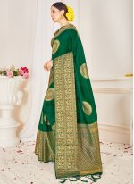 Woven Green Traditional Saree
