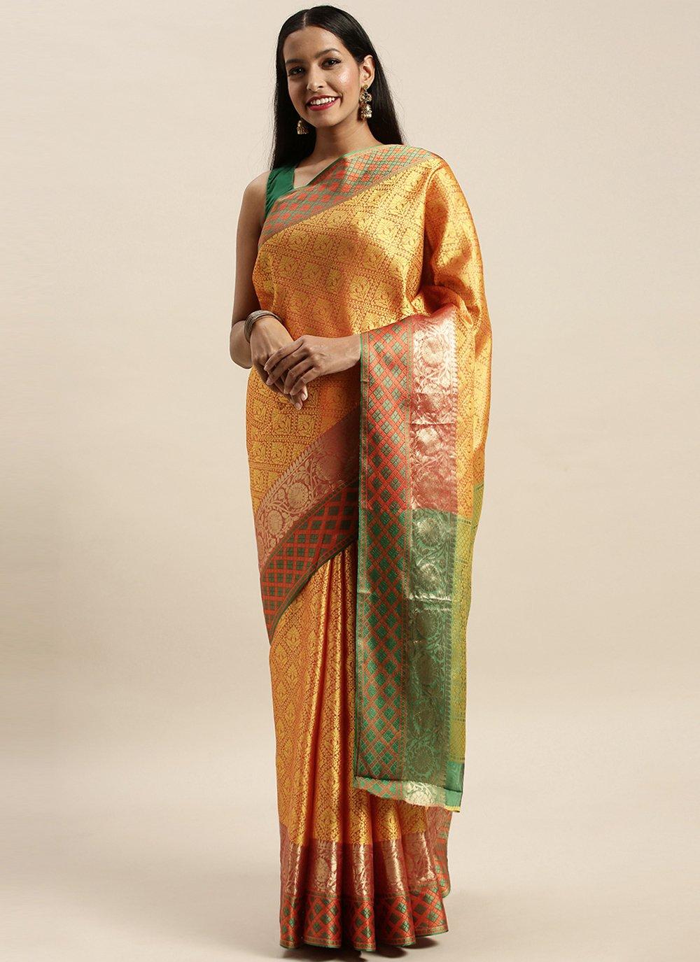 Woven Handloom silk Traditional Designer Saree