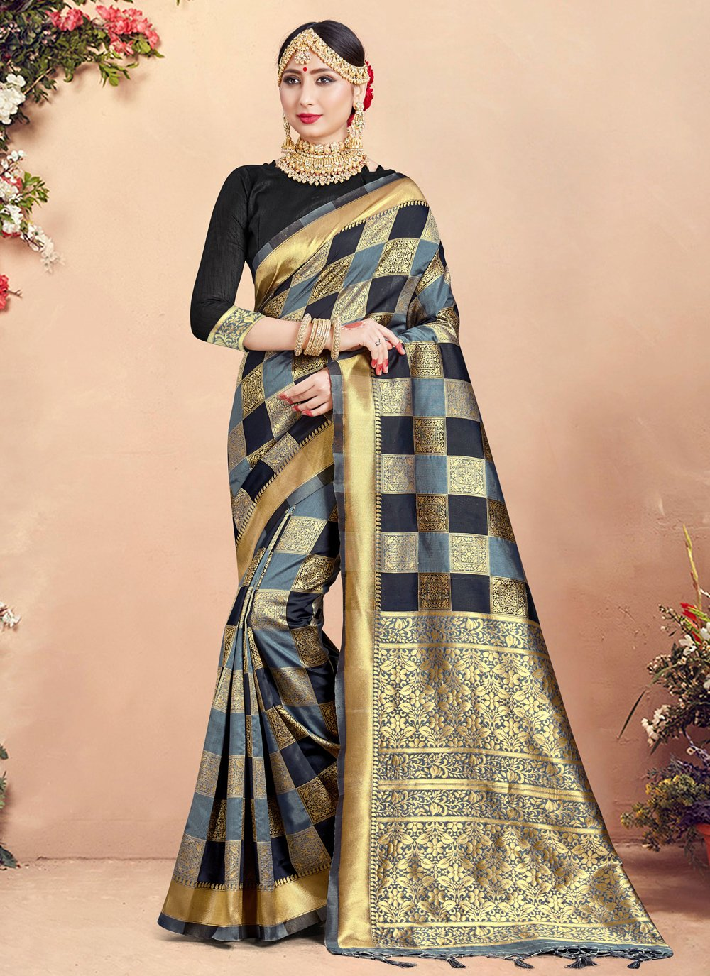 Woven Multi Colour Art Banarasi Silk Designer Traditional Saree