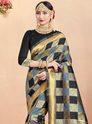 Woven Multi Colour Art Banarasi Silk Designer Traditional Saree