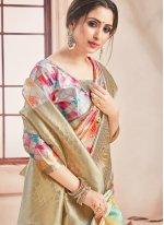 Woven Multi Colour Printed Saree