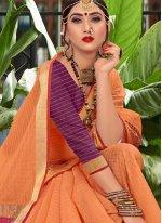 Woven Orange Designer Traditional Saree