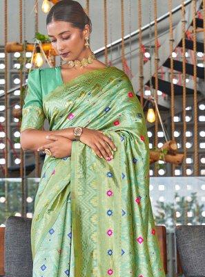 Woven Poly Silk Traditional Designer Saree