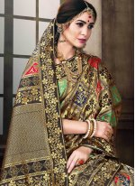 Woven Poly Silk Traditional Saree in Multi Colour
