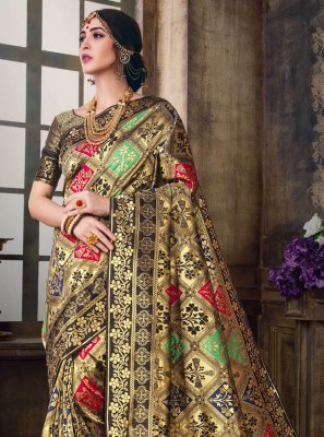 Woven Poly Silk Traditional Saree in Multi Colour