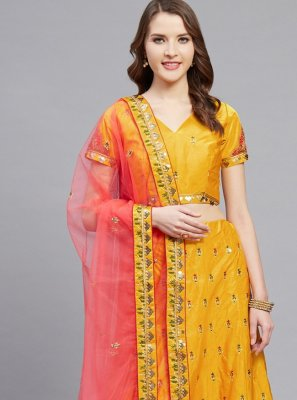 Yellow A Line Lehenga Choli