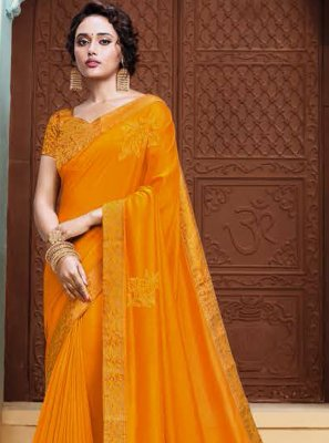 Yellow Ceremonial Classic Designer Saree