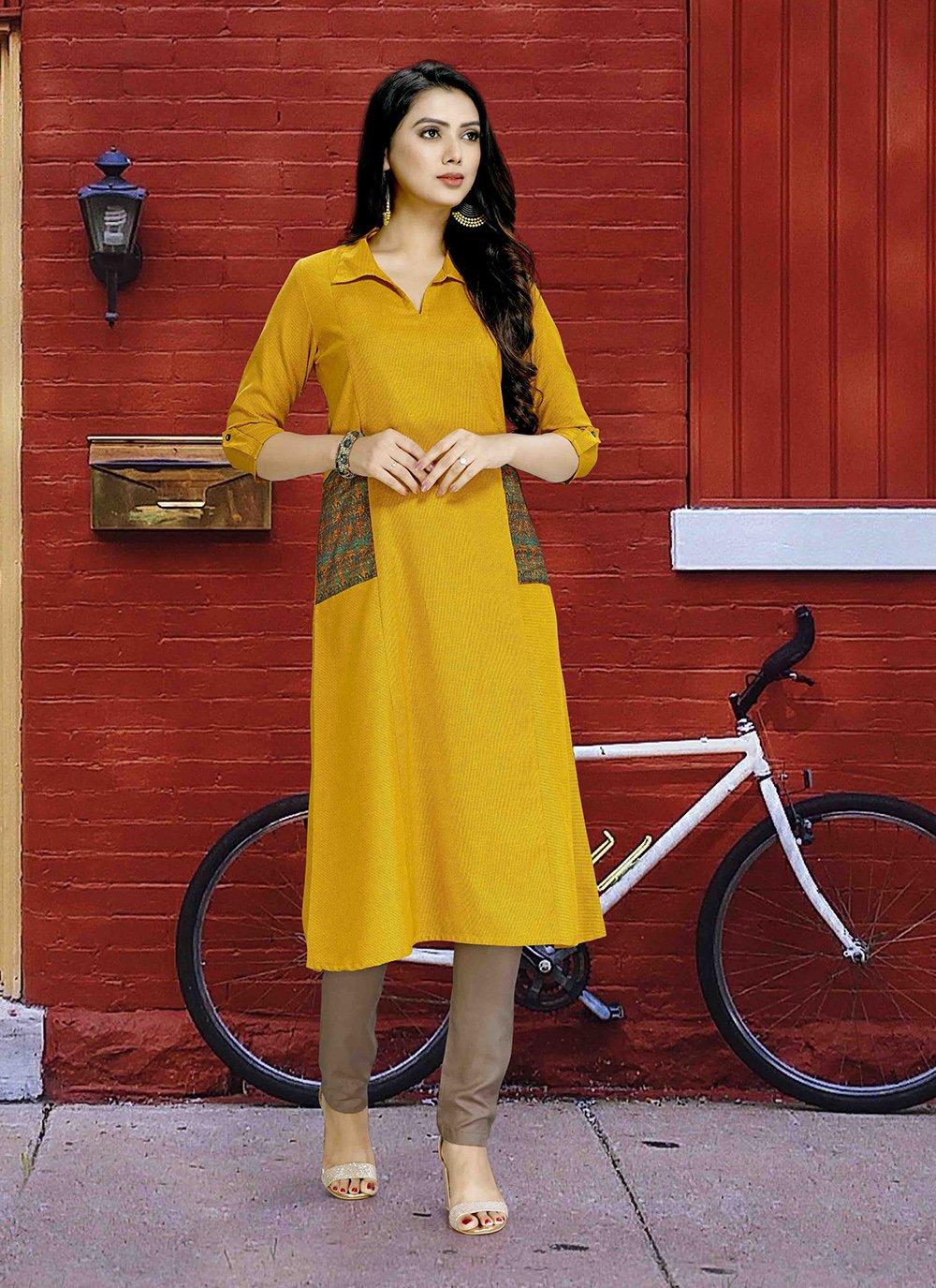 Yellow Ceremonial Designer Kurti