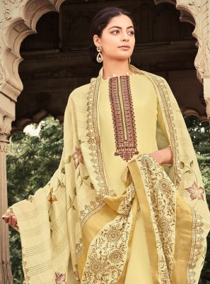 Yellow Ceremonial Designer Palazzo Suit