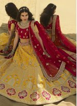 Yellow Color A Line Lehenga Choli