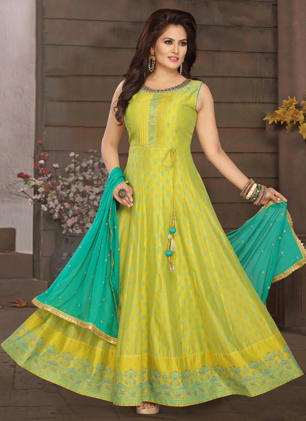 Yellow Color Readymade Suit