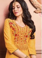 Yellow Embroidered Designer Lehenga Choli