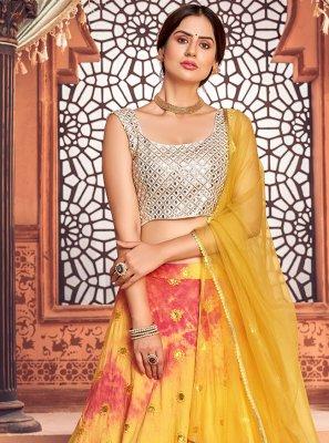 Yellow Embroidered Lehenga Choli