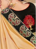 Yellow Embroidered Silk Designer Traditional Saree