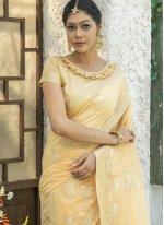 Yellow Engagement Cotton Trendy Saree