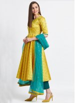 Yellow Fancy Readymade Suit