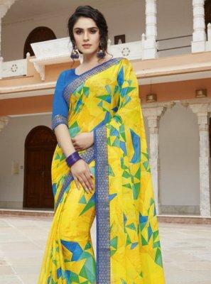 Yellow Festival Bollywood Saree