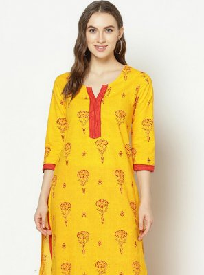 Yellow Festival Party Wear Kurti