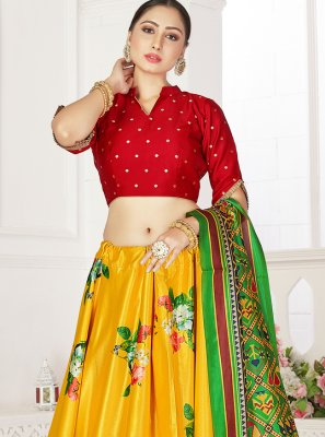Yellow Festival Readymade Lehenga Choli