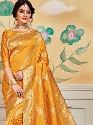 Yellow Festival Traditional Designer Saree