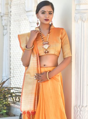 Yellow Festival Traditional Saree