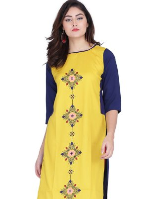Yellow Party Wear Kurti