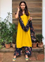 Yellow Print Readymade Suit