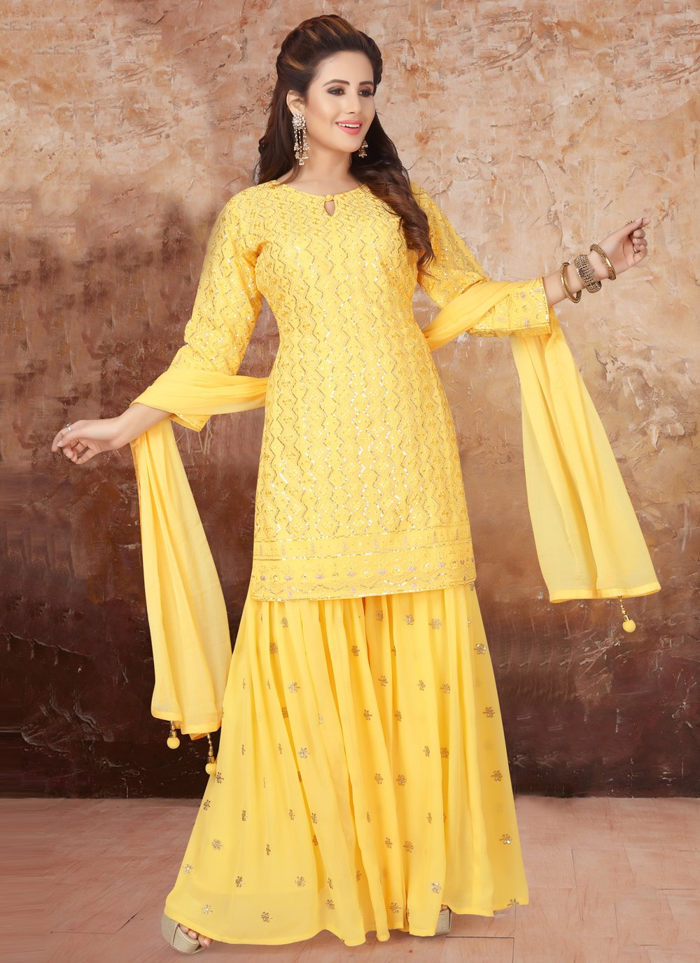 Yellow Readymade Suit