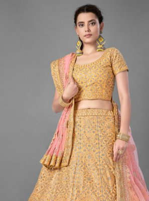 Yellow Reception Bollywood Lehenga Choli