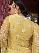 Yellow Resham Designer Pakistani Salwar Suit