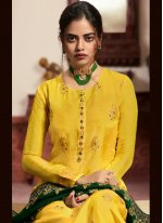 Yellow Sangeet Pant Style Suit