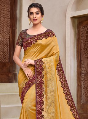 Yellow Silk Classic Saree