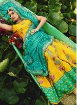 Yellow Silk Mehndi Readymade Lehenga Choli
