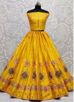 Yellow Thread Lehenga Choli