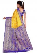 Yellow Weaving Traditional Designer Saree