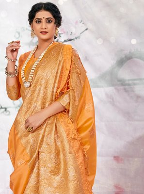 Yellow Wedding Traditional Saree
