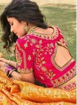 Zari Banarasi Silk A Line Lehenga Choli